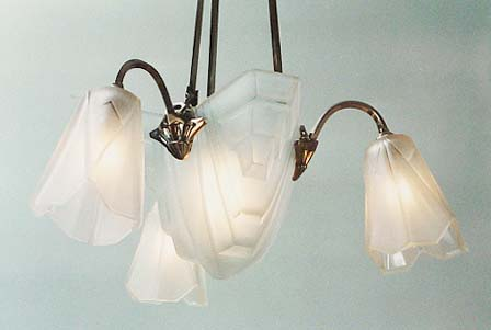 Degue chandelier with nickled mount aloadofball Choice Image