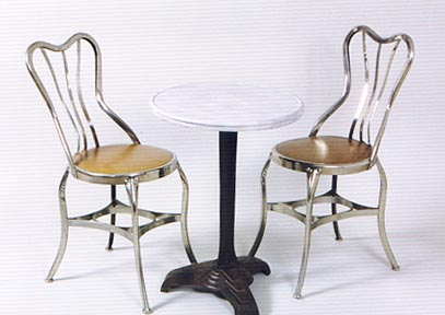 These Ice Cream Parlor Chairs Purchased In California And Probably American Made Are Nickel Plated The S Superb Condition