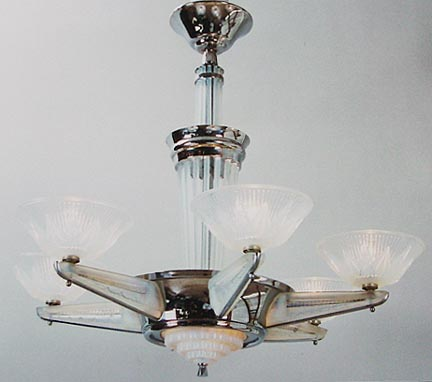 famous lighting designer. Here\u0027s An Unusually Large Chromed Chandelier By Petitot, The Famous French Lighting Designer. All Glass Rods, Arm Sleeves, Six Shades And Designer A