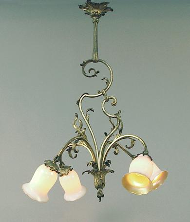 Lights & Lighting Chandeliers The Cheapest Price Elegant Splendid Art Leaf Shape Mini Bedroom Hand Blown Glass Chandelier Lamp