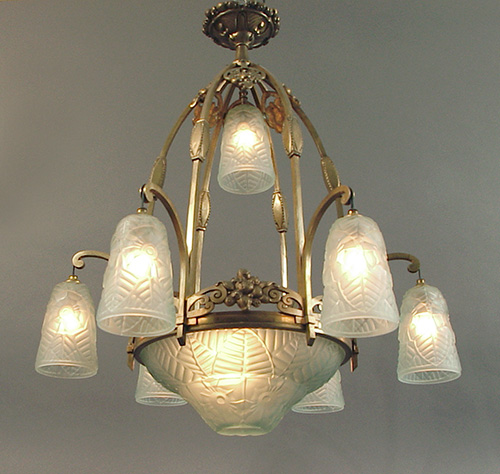 French Art Deco Wrought Iron And Nickel-plated Brass And