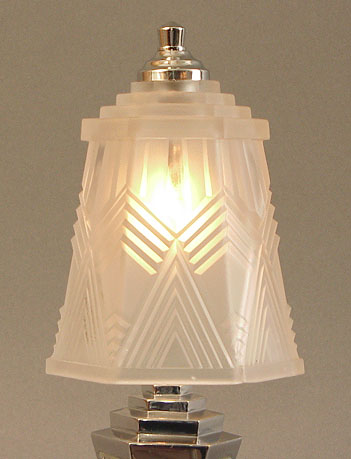 French  Deco Lamp on French Art Deco Table Lamps By Muller  Rethondes  Schneider Le Verre