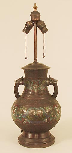Antique Table Lamps And Lamp Bases Oriental Including