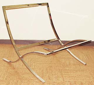 (B) Mies Van Der Rohe Chair, The Barcelona. Without Cushions Or Straps, But  Rechromed. Iu0027ve Got Two Of These! (e Mail Jack For A Price)
